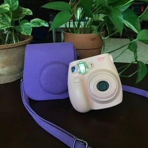 Instax Mini 7s (pink) and Purple case
